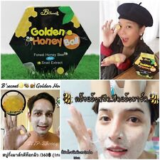 3X Golden Honey Ball Face Soap Semi Mask Detox Skin + Snail Extract Reduce Acne