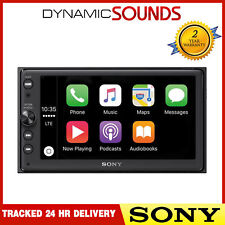 "Sony XAV-AX100 CarPlay & Android Auto 6.4"" Mechless Stereo iPod USB Bluetooth"