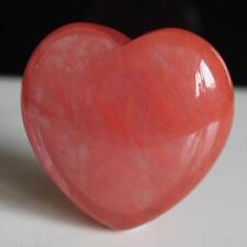 41mm  Red volcano cherry quartz heart piece  g2987