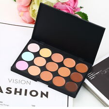 15 Color Pro Makeup Facial Concealer Camouflage Cream Palette Eyeshadow #C