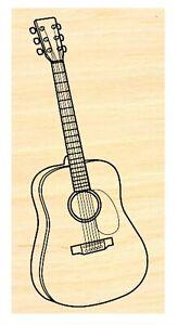Guitar rubber stamp P49C