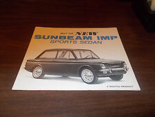 1960s Sunbeam Imp Sports Sedan Sales Brochure