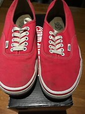 VANS Authentic Red Trainers, Size 8 Unisex,