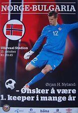 Programm LS 13.10.2013 Norwegen - Bulgarien