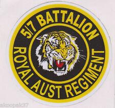 5TH/7TH ROYAL AUSTRALIAN REGIMENT ADHESIVE STICKER 90MM