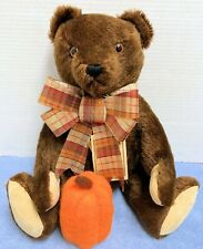"Hermann 15"" Chocolate Mohair Original Teddy Bear- West Germany 67/2000 w Tags"