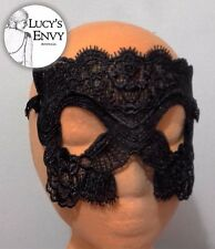 Black Lace Masquerade Mask Style Fancy Dress by Lucy's Envy M114