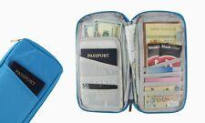 Passport & Travel Organizer Document Holder Blue
