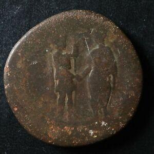 Hadrian Sestertius 133-135 Romaspear scroll Rome RIC 2042 Hadrien Sesterce