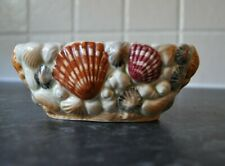 Sylvac pottery shell vase , dish good condition vintage collectable pottery
