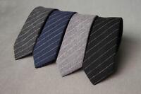 Men 100% Cotton Striped Skinny Slim Narrow Necktie Neck Tie Wedding Party 6cm