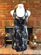Andrea Behar (Boston Proper) Black-Silver-Blue Abstract Sequined Sheath Dress 4