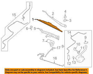 Lincoln FORD OEM 10-15 MKT Wiper Arm-Front Blade AE9Z17528A