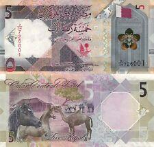 Qatar 5 Riyal (2020) - Coat of Arms/Horse/Camels, p-New UNC