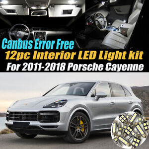 12Pc Canbus Error Free Interior LED White Light Kit for 2011-18 Porsche Cayenne