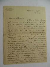1907 William Henry Beatty Autograph Letter Signed Chief Justice California ALS