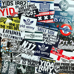 100 x Tottenham Ultra Style Stickers inspired by Spurs Gift Banner Flag Party