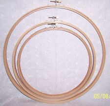 """EMBROIDERY RING HOOP WOOD = 12"""" - 10"""" OR 9""""  = NEW - CRAFTS  - DREAM CATCHER"""