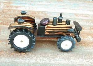 Wooden Handmade Tractor Eco-Friendly for Child and Home Decoration