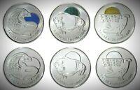 2011 Canada Legendary Nature Set of Six 25 Cents UNC Gem BU!!