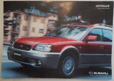 SUBARU OUTBACK H6 3.0 LITRE orig 2000 UK Mkt Sales Brochure