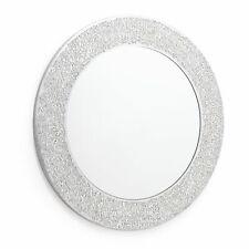 Silver Mosaic Mirror. Wall Mounted Mirror. High Shine Crackle Effect 40 x40cm