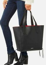 REBECCA MINKOFF Medium Panama black  Leather Tote $275