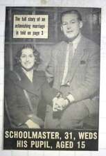 1950 Schoolmaster Edward Reynolds marries 15 yr old pupil Shirley Shaw