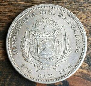 El Salvador Republic .900 Central America Mint 1911 Christopher Columbus Un Peso