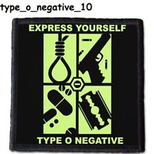 TYPE O NEGATIVE 2  Patch  4x4 inche (10x10 cm) new