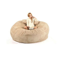 6Ft Giant Bean Bag Chair COVER Luxury Warm Fluffy Lazy Lounge Adult Kids Outdoor