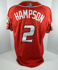 2018 Albuquerque Isotopes Garrett Hampson #2 Game Used Red Jersey