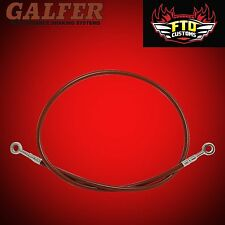 "Hayabusa Galfer Red 36"" Extended Rear Brake Line for Swingarm Extensions"