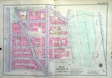 1932 Bromley Washington Heights Manhattan Reprodution Catlas Map W 162nd -W167th