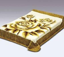 King Size Vivalon Brown Roses (BM146) Korean Mink Blanket - By Solaron