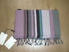Silk Blend Striped Scarves for Men