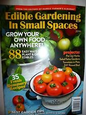 BRAND NEW! Edible Gardening In Small Spaces Recipes~Tips~Tricks~ FREE SHIPPING!