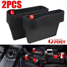 2x Car Seat Gap Organiser Slit Storage Caddy Keys Phone Coins Holder Box Case AU