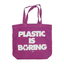 NEW BREED PLASTIC IS BORING CANVAS BAG