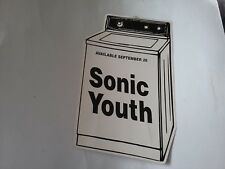 SONIC YOUTH 1995 WASHING MACHINE PROMO HANGING DISPLAY VG CREASES RARE VTG HTF !