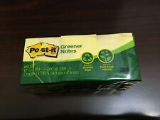 """Post-it Greener Notes Recycled Note Pads, Canary Yellow - 12 pads (1.5"""" X 2"""")"""