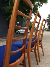 *RARE* Niels Koefoed *CYNTIQUE* Ladder Back Mid Century DINING CHAIRS BLACKWOOD