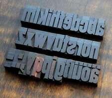 a-z Alphabet Holzbuchstaben 54 mm Lettern Holzlettern Vintage shabby letterpress