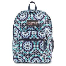 """New Trans By JanSport Supermax 17"""" Laptop Backpack Navy Moonshine Moroccan"""