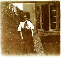 Femme Mode Habit Chapeau ca 1930, Photo Stereo Vintage Plaque Verre VR5L8