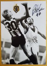 1979 PETER MOORE COLLINGWOOD HAND SIGNED B&W PHOTO & FREE REPLICA BROWNLOW MEDAL