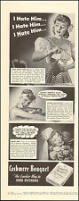 1943 Vintage ad for Cashmere Bouquet Soap`Pretty Model WWII era  (092516)