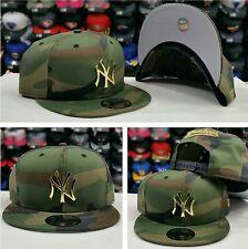 Exclusive Gold Metal Badge New Era New York Yankee Snapback Camoflash Army Green