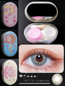 Korean Colored Contact Lens Travel Case Kit Winni Rita Gray