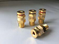 Speaker Binding Posts 4mm Socket Connectors for Banana Plugs (4 Pack)